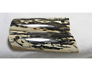 SOLD!BLACK BARK MAMMOTH IVORY 1911 GRIPS A-1390