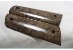 CLEARANCE!EXOTIC BLACK NARGUSTA BURL 1911 GRIPS A-1404
