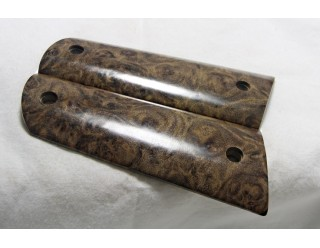 EXOTIC WOOD BLACK NARGUSTA BURL 1911 GRIPS A-1404