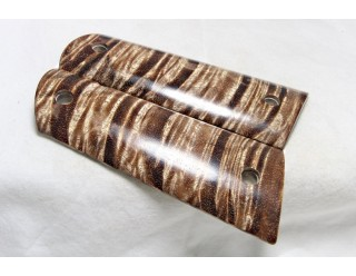 SOLD!EXOTIC WOOD OLD GROWTH CURLY KOA 1911 GRIPS A-1406