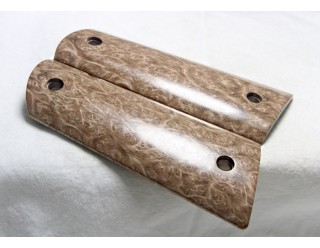 EXOTIC BIRDSEYE SATINWOOD 1911 GRIPS A-1408