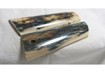 BEAUTIFUL BLUE / BLACK MAMMOTH IVORY 1911 GRIPS A-1413
