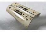 BLACK & CREAM BARK MAMMOTH IVORY 1911 GRIPS A-1451
