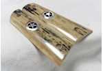 "BARK MAMMOTH IVORY 1911 GRIPS ""TEXAS SPECIAL"" A-1464"