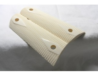 SOLD! ELEPHANT IVORY CHECKERED 1911 GRIPS FL SALES ONLY! A-1469