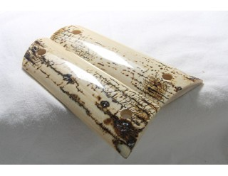 SOLD!BARK MAMMOTH IVORY 1911 GRIPS A -1483