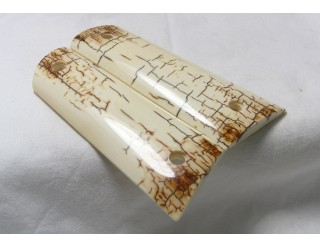 SOLD! ICE CRACKLE BARK MAMMOTH IVORY 1911 GRIPS A-1485