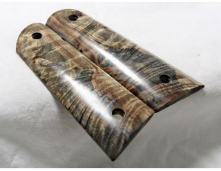 SOLD!EXOTIC WOOD BUCKEYE BURL 1911 GRIPS A-1501