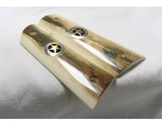 """BARK MAMMOTH IVORY 1911 GRIPS """"TEXAS SPECIAL"""" A-1518"""
