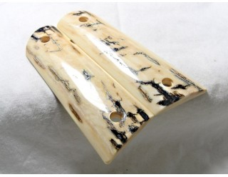 BLACK ICE CRACKLE BARK MAMMOTH IVORY 1911 GRIPS A-1583