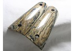 AMAZING BLACK ICE CRACKLE BARK MAMMOTH 1911 GRIPS A-1607