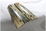 SOLD!BLUE BARK MAMMOTH IVORY 1911 GRIPS A-1608
