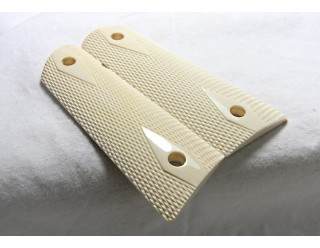 SOLD!ELEPHANT IVORY CHECKERED 1911 GRIPS A-1612 FL SALES ONLY!