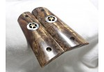 EXOTIC PHILIPPINE EBONY BURL 1911 GRIPS A-1637