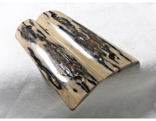 SOLD!BLUE/BLACK MAMMOTH IVORY 1911 GRIPS A-1668