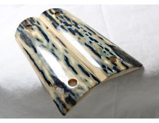 BLUE BARK MAMMOTH IVORY 1911 GRIPS A-1728