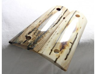SOLD!BARK MAMMOTH IVORY 1911 GRIPS A-1742