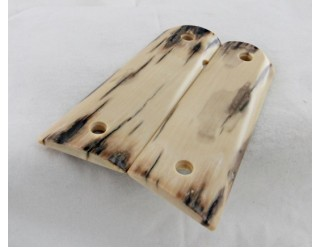 SOLD!LITE BARK MAMMOTH IVORY 1911 GRIPS A-1763