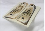 BEAUTIFUL MATCHED BARK MAMMOTH IVORY 1911 GRIPS A-1901