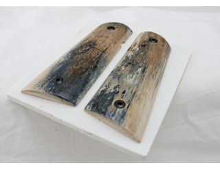 SOLD!BARK MAMMOTH IVORY 1911 GRIPS A-2060