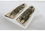 SOLD!AMAZING BLUE MAMMOTH IVORY 1911 GRIPS A-2068