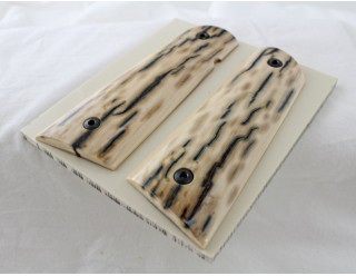 SOLD!BARK MAMMOTH IVORY 1911 GRIPS A-2172